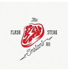 The Flash Instant Steak Abstract Retro vector image vector image