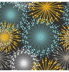 Vintage floral pattern in dark pastel colors vector