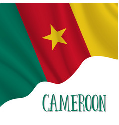 1 january cameroon independence day background vector image
