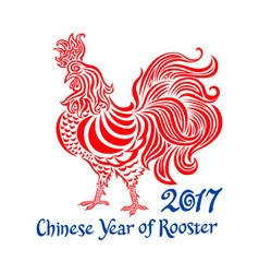2017 cock chinese Year of rooster vector image