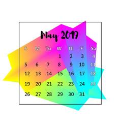 2019 calendar design concept may 2019 vector image