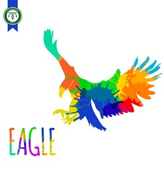 Abstract Colorful Eagle Silhouette vector image