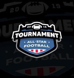 American football championship emblem logo vector
