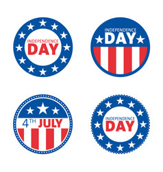 American independence day label design set vector