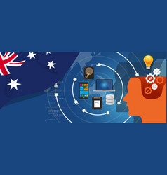 australia it information technology digital vector image