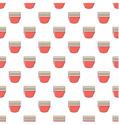 Baking molds pattern seamless vector