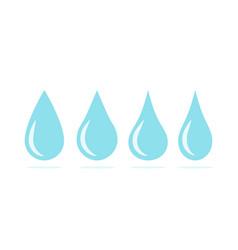 blue water drops symbol set liquid drop icons vector image