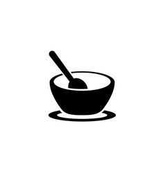 bowl flat icon vector image