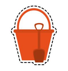 bucket with handle icon image vector image