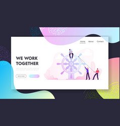 business leadership teamwork website landing page vector image