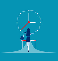 Business woman challenge on road concept vector