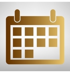 Calendar sign Flat style icon vector image