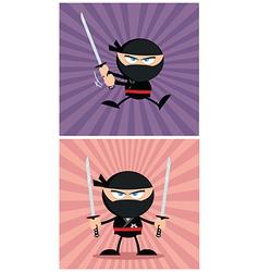 Cartoon ninja design vector image
