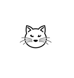 cat head and face logo design vector image