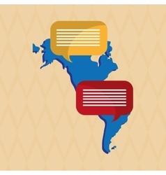 Communication icon design vector image vector image