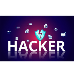 concept of thief hacker stealing sensitive data vector image