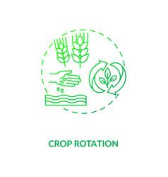Crop rotation concept icon vector