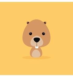 Cute Cartoon Wild beaver vector