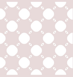 cute romantic seamless pattern with circles vector image