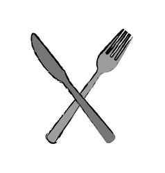 Cutlery fork and knife icon image vector
