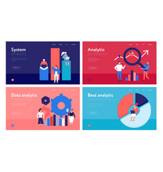 data analysis concept banners vector image