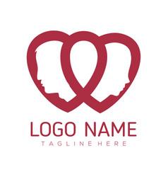date love and valentine logo design vector image