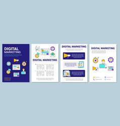 Digital marketing brochure template layout vector