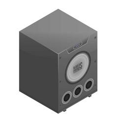 Digital speaker icon isometric style vector