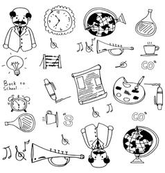 Doodle of school object art vector