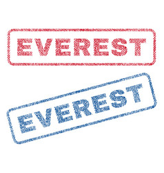 Everest textile stamps vector