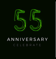 Fifty five fifth anniversary poster vector