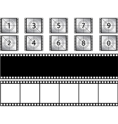 Film strips and countdown vector