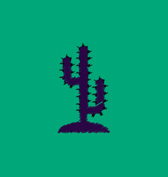 Flat icon design collection cactus sign vector