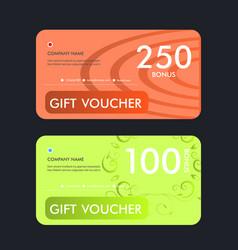 gift voucher template design vector image