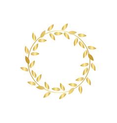 golden laurel or olive award wreath vector image