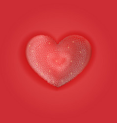 happy valentines day greeting card with red image vector image