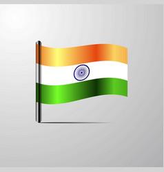 India waving shiny flag design vector