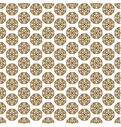 japanese shapes seamless pattern in gold vector image