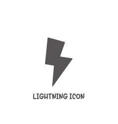 lightning icon simple flat style vector image