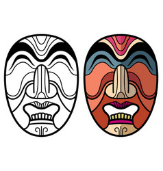 Mexican indian aztec traditional masks vector
