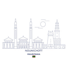 nouakchott city skyline vector image