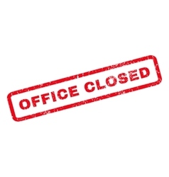 Office Closed Rubber Stamp vector image