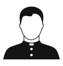 Pastor icon simple style vector image