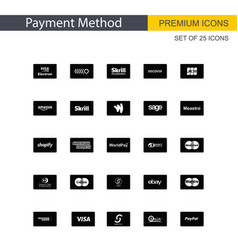 payment method icons set vector image