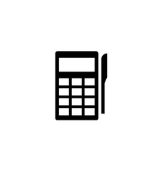 pos terminal payment flat icon vector image
