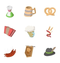 Pub icons set cartoon style vector image
