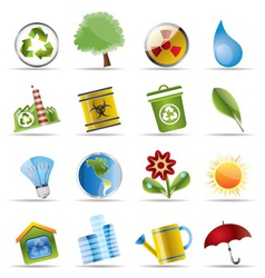 realistic icon - ecology vector image