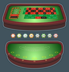 Roulette table blackjack vector image