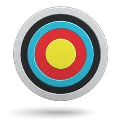 Round darts target aim with yellow center vector image