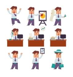 Set businessman activities vector